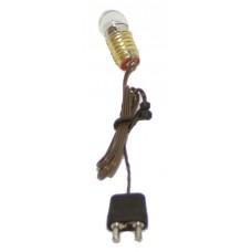 Kabel, Fassung E10, Birne und Stecker , 4,5 Volt