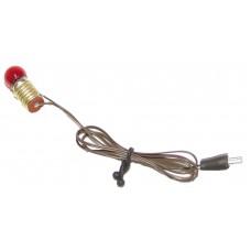 Kabel, Fassung E10, Birne und Stecker , 4,5 Volt rot