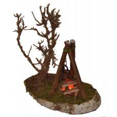 Lagerfeuer mit Beleuchtung 4,5 Volt und Busch