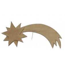 Komet aus Holz