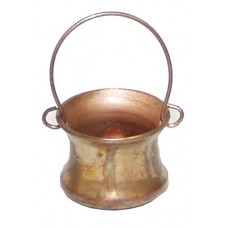 Kupferkessel aus Metall mittel