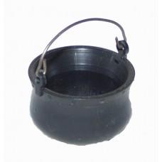 Lagerfeuertopf aus Kunsstoff schwarz