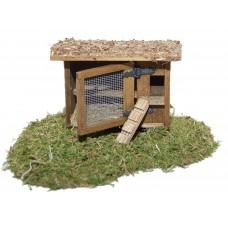 Hühnerstall mit Bodenbrett